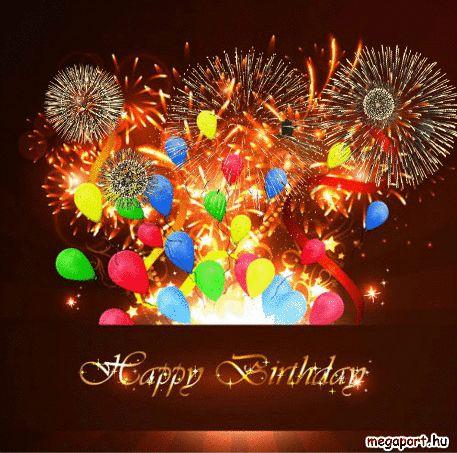Happy Birthday Gif Fireworks - Megaport Media