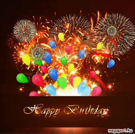 Happy Birthday Gif Fireworks Megaport Media Holidays Other
