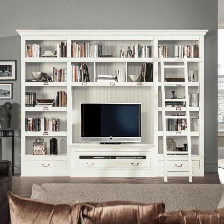 TV-Wand Azjana I - Pinie teilmassiv - Pinie weiß lackiert - Mit Leiter, Maison Belfort Jetzt bestellen unter: https://moebel.ladendirekt.de/wohnzimmer/tv-hifi-moebel/tv-waende/?uid=ae196197-3d04-5f7a-b3fe-cf6a19a5eed1&utm_source=pinterest&utm_medium=pin&utm_campaign=boards #möbel #maison #tvwaende #belfort #wohnzimmer #mediamöbel #tvhifimoebel