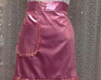 Brithday present for girl, Pink Half Apron, Cute Pink Ruffled Apron, Gift for New Mother, Tea hostess apron, Holiday Gift, Ready to ship by blingscarves. Explore more products on http://blingscarves.etsy.com