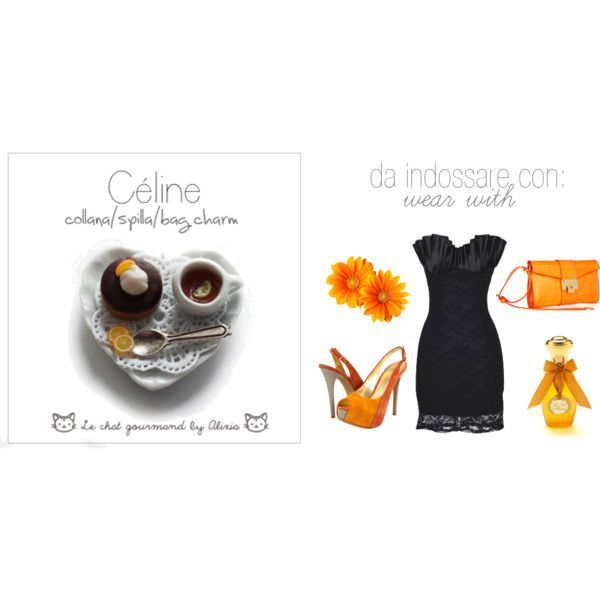 celine - necklace - le chat gourmand by Alixia, created by alixia88.polyvore.com