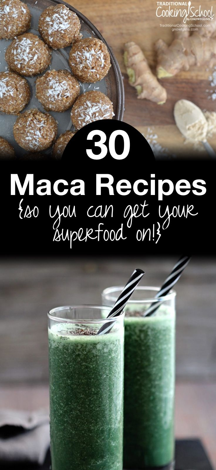30 Maca Recipes {so you can get your superfood on!} | We all get the feeling like we just need to re-charge our batteries and have more energy. One Peruvian plant root in particular may just make you feel like your batteries are finally charged. Consider this adaptogenic superfood as an amazing addition to your lifestyle -- one that might be the missing link if you experience low energy levels, depression, compromised immunity, or hormonal imbalances. By the time you're done wiping the drool…