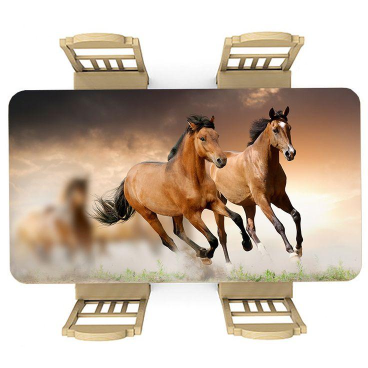 Tafelsticker Rennende paarden | Maak je tafel persoonlijk met een fraaie sticker. De stickers zijn zowel mat als glanzend verkrijgbaar. Geschikt voor binnen EN buiten! #tafel #sticker #tafelsticker #uniek #persoonlijk #interieur #huisdecoratie #diy #persoonlijk #paarden #paard #vee #rennen #wild #bruin #gras #veld #lief #meisjeskamer #meidenkamer #meisje