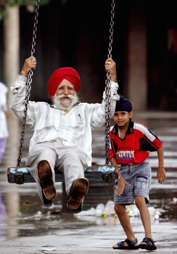 No Matter Our Age in Years, We Are Never Too Old for the Swings, Tee Hee ♥ Love This