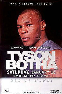 Mike #tyson vs. #francois botha / original mgm grand ppv #boxing fight poster,  View more on the LINK: http://www.zeppy.io/product/gb/2/131642719175/