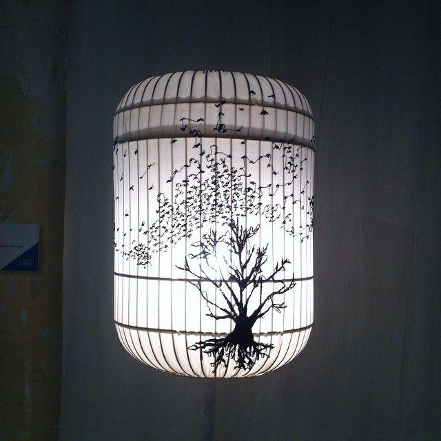 "@jellibat's photo: ""Hand embroidered silk chiffon light by Gavin Bufton #mfringe #fringefurniture"""