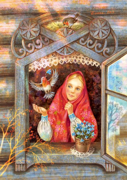 Просмотреть иллюстрацию Зарянка из сообщества русскоязычных художников автора Таня Сытая / Tanya Sitaya в стилях: Книжная графика, нарисованная техниками: Растровая (цифровая) графика.