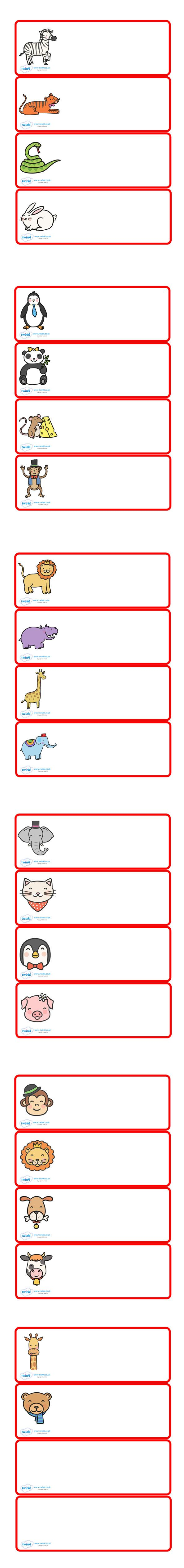 Twinkl Resources Editable Peg Drawer Labels (Animals) Classroom printables for Pre-School, Kindergarten, Elementary School and beyond! Labels, Drawers, Pegs, Animals
