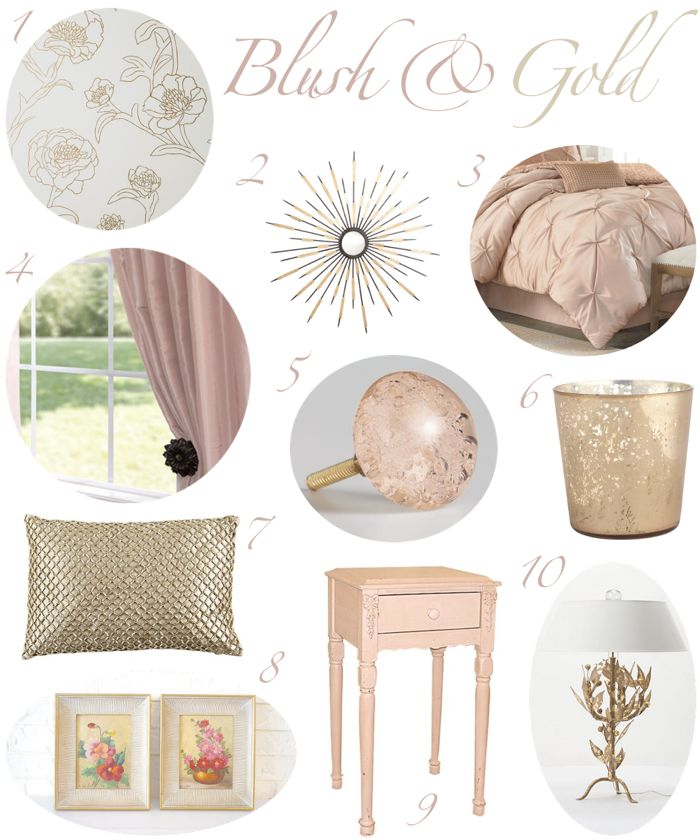 17 best ideas about gold bedroom decor on pinterest gold for Deco maison rose gold