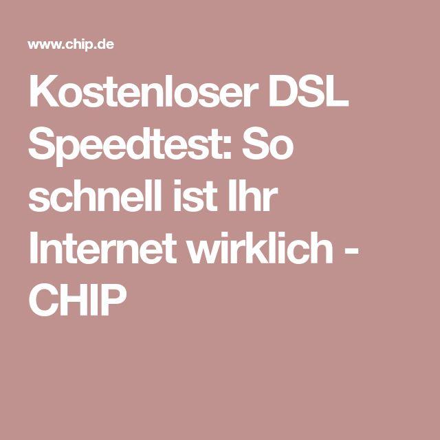 Kostenloser DSL Speedtest: So schnell ist Ihr Internet wirklich - CHIP