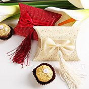 Pillow Shaped Favor Box With Bow And Tassel (... – USD $ 6.64
