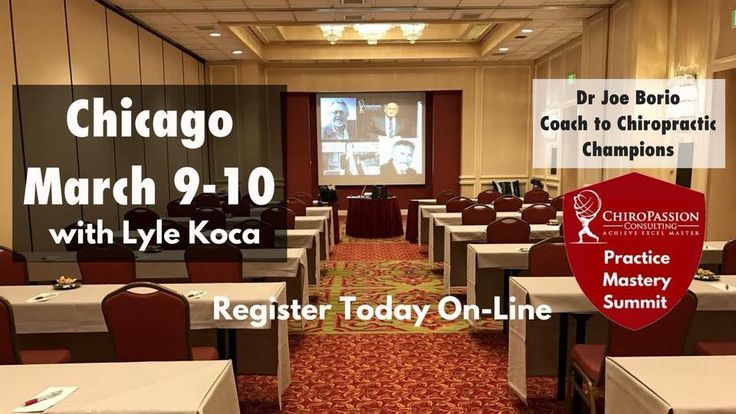 Will we see you this weekend in Chicago? There's still time left to register; only 4 seats left! Have you joined Success Club? For the Chiropractor who wants More. Dr Joe Borio Coach to Chiropractic Champions Achieve Excel Master chiropassionconsulting.com/successclub chiropassionconsulting.com/events
