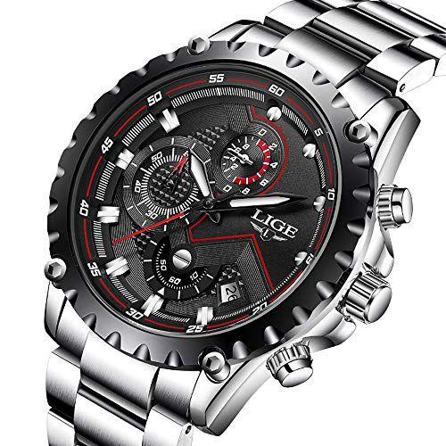 cea750db316956 Offerta di oggi - Orologi da uomo sport lusso Business impermeabile in  acciaio INOX cronografo quadrante