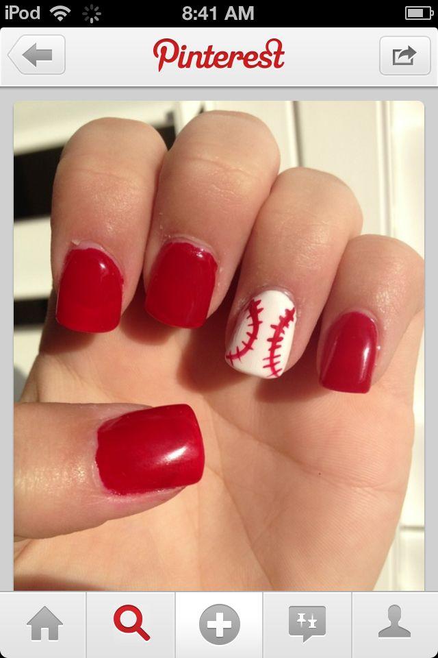 softball nails - Best 25+ Softball Nails Ideas On Pinterest Baseball Nail Designs