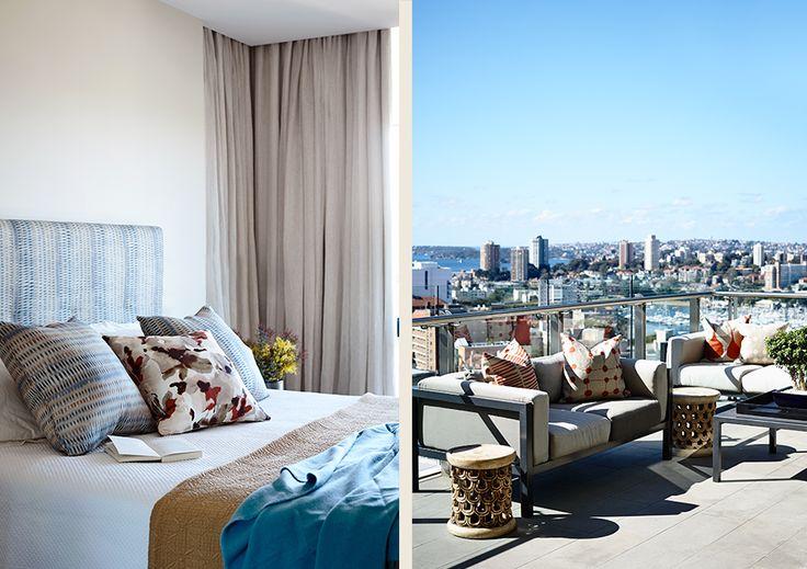 #adelaidebragg #interiordesign #sydneyapartment #contemporaryliving #bedroom #balcony
