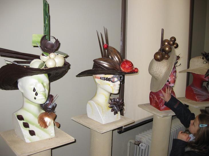 chocolade kunstwerken/ hoeden