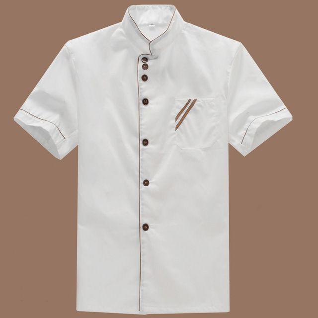 Summer Kitchen Chef Jacket Short Sleeve Hotel Uniform Kitchenware Catering Service Tooling Jacket Workwear Chef Uniform #Affiliate