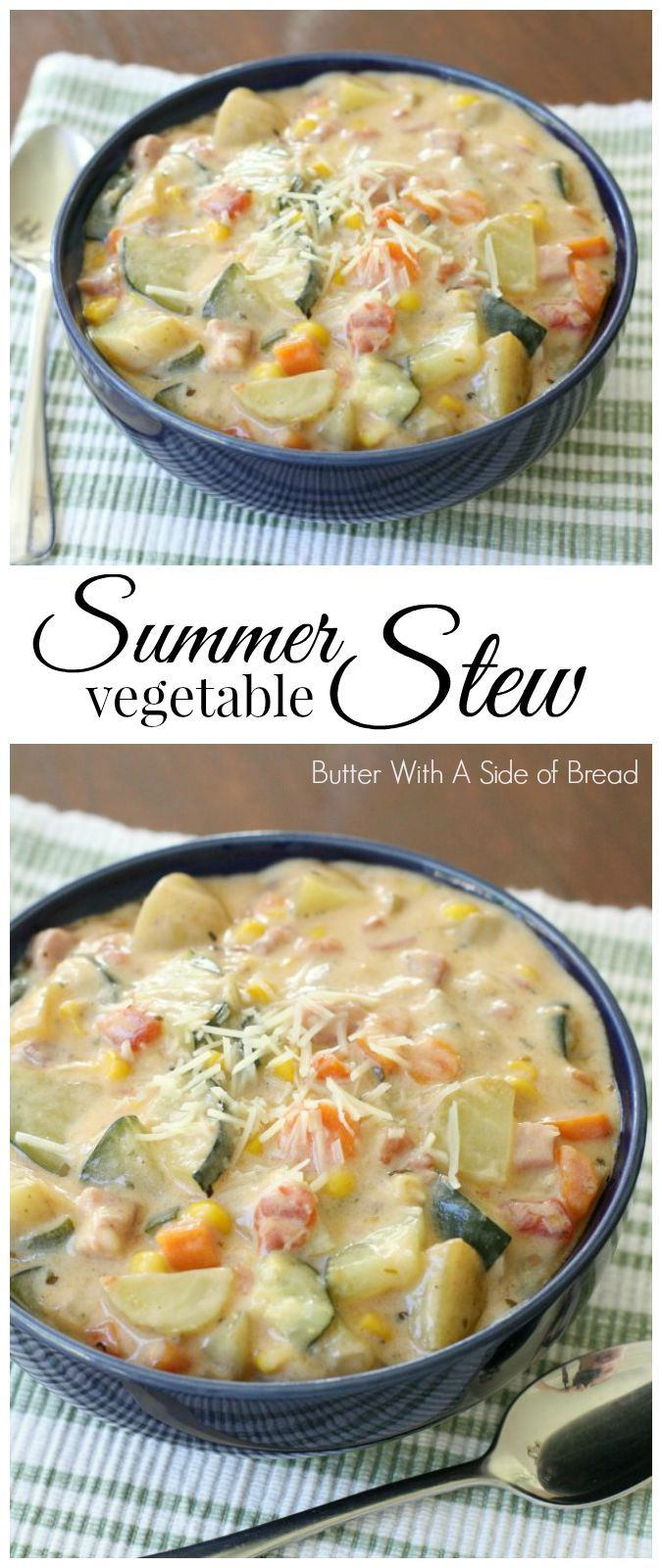Summer Vegetable Stew - made with white beans instead of chicken.