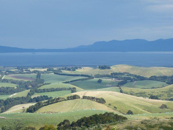 Corner Inlet from Mt Best. Beautiful Mt Best, South Gippsland, Victoria, Australia.