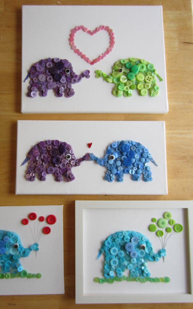 Knopfelefanten. Look how cute!