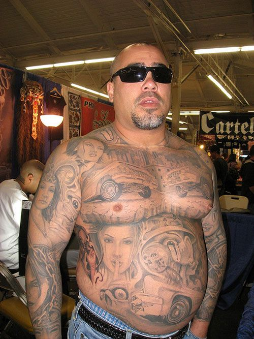 Mexican Gangster Tattoos Robust gangster's tattoos