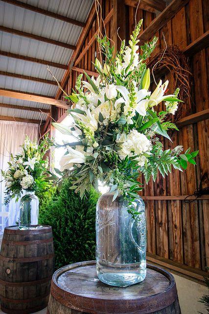 All white arrangement on large mason jars. Natural Wonders Photography | Flickr - Photo Sharing!