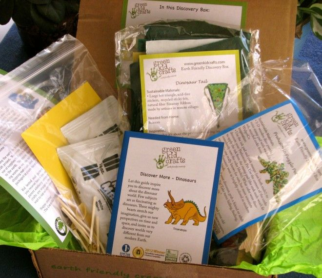 Sample Green Kids Crafts set, mailed monthly for $20