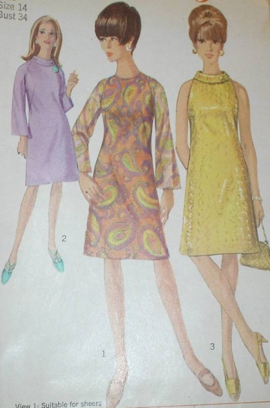 60s: Patterns 6783, Minis Dresses, 1960S Simplicity, Rolls Collars, 1960S Dresses, Vintage Patterns, Simplicity 6783, Dresses Patterns, Sewing Patterns