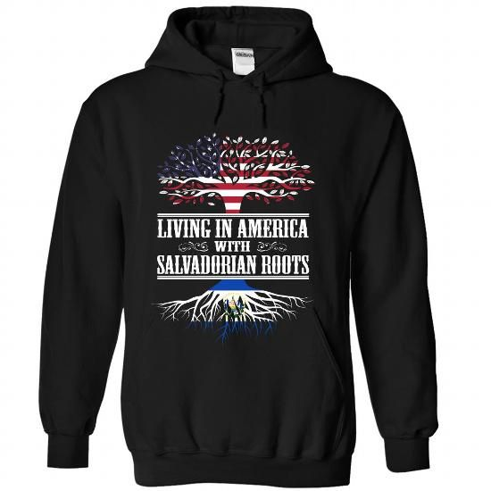 Living in America with Salvadorian roots - #cool tshirt #sweatshirt outfit. WANT IT => https://www.sunfrog.com/States/Living-in-America-with-Salvadorian-roots-eigajntjpo-Black-Hoodie.html?68278
