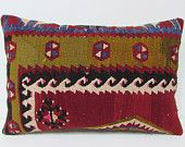 kilim pillow online 16x24 red decorative pillow brown throw pillow boho chic tapestry floor pillow cover moroccan style floor cushion 23197