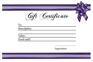 gift certificate, bow and ribbon