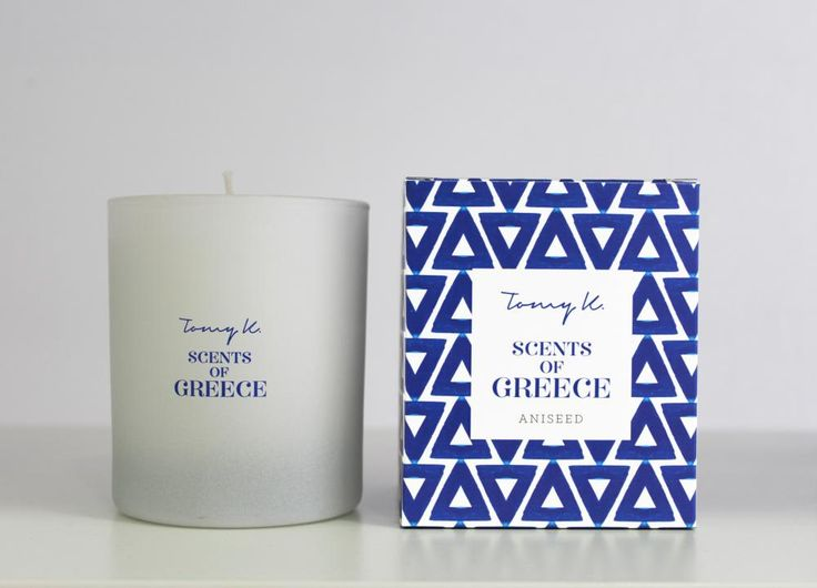 "Green Blu - ""TOMMY K."" Scents of Grecce scented candle Aniseed 150gr"