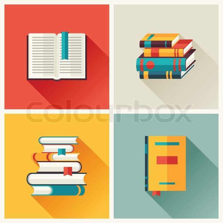 10750913-set-of-book-icons-in-flat-design-style.jpg (800×800)