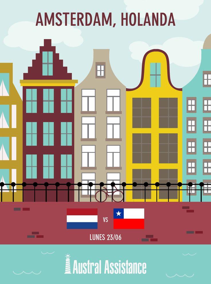 Amsterdam #Mundial2014 #Holanda ---> Austral Assistance - Asistencia al viajero, aquí y en todo el mundo. www.australassistance.com