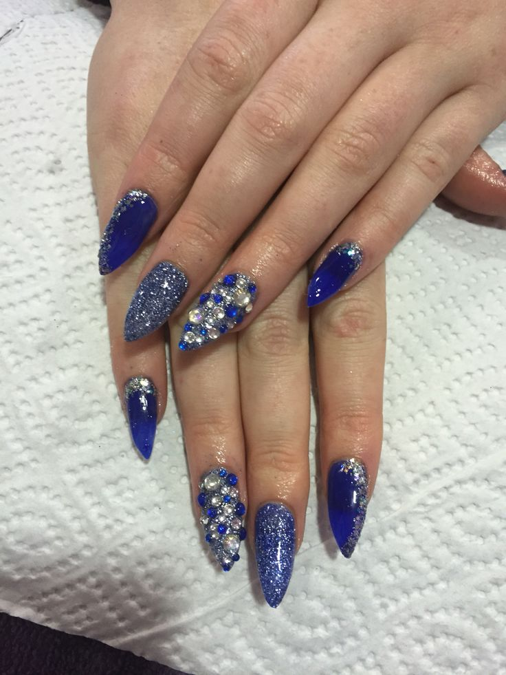 Stiletto Nails Fake Nails Matte Nails Blue Press On Nails: 17 Best Ideas About Stiletto Nails Glitter On Pinterest