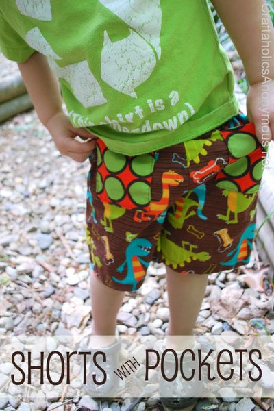 boy shorts sewing tutorial. would you like me to make for the boys? homemade clothes aren't that bad and saves money?