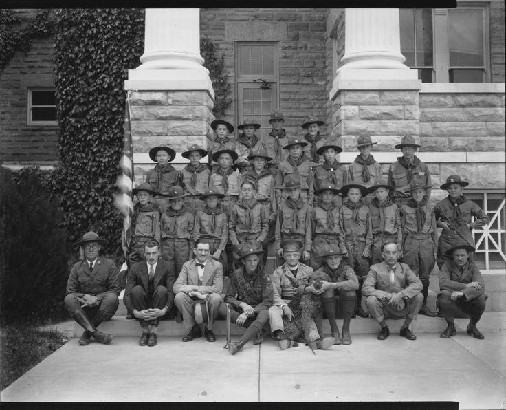 Boy Scouts 1930 Photo courtesy of Hays Public Library -- Hays, KS