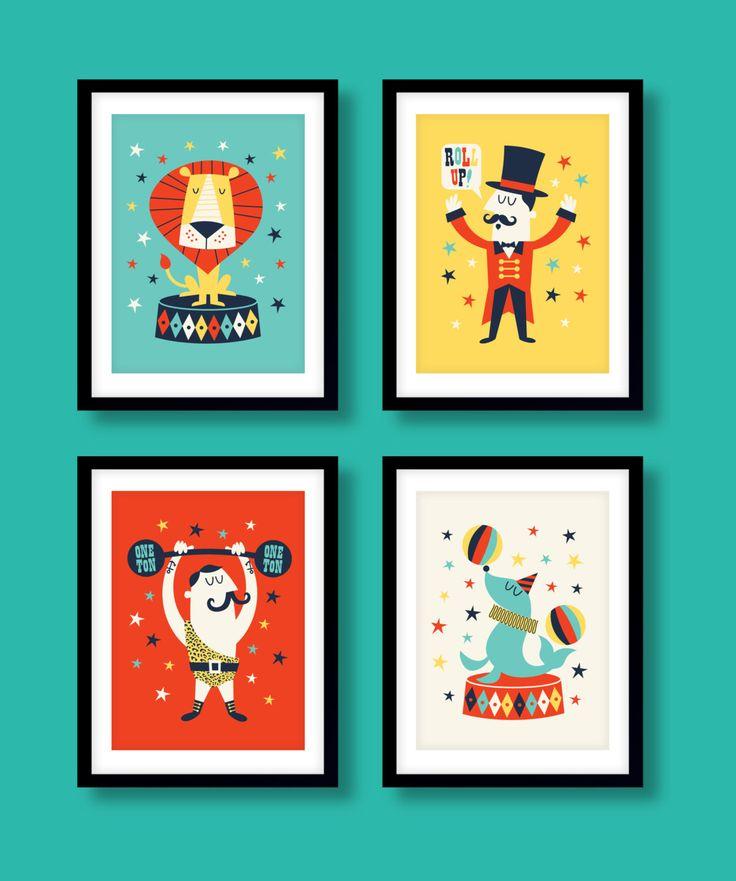 Childrens circus print set, circus print set, circus kunst aan de muur, circus kwekerij prenten, kinderdagverblijf inrichting, slaapkamer van de kinderen, kinderen decor, kids kamer door BubbleGumYears op Etsy https://www.etsy.com/nl/listing/272546584/childrens-circus-print-set-circus-print