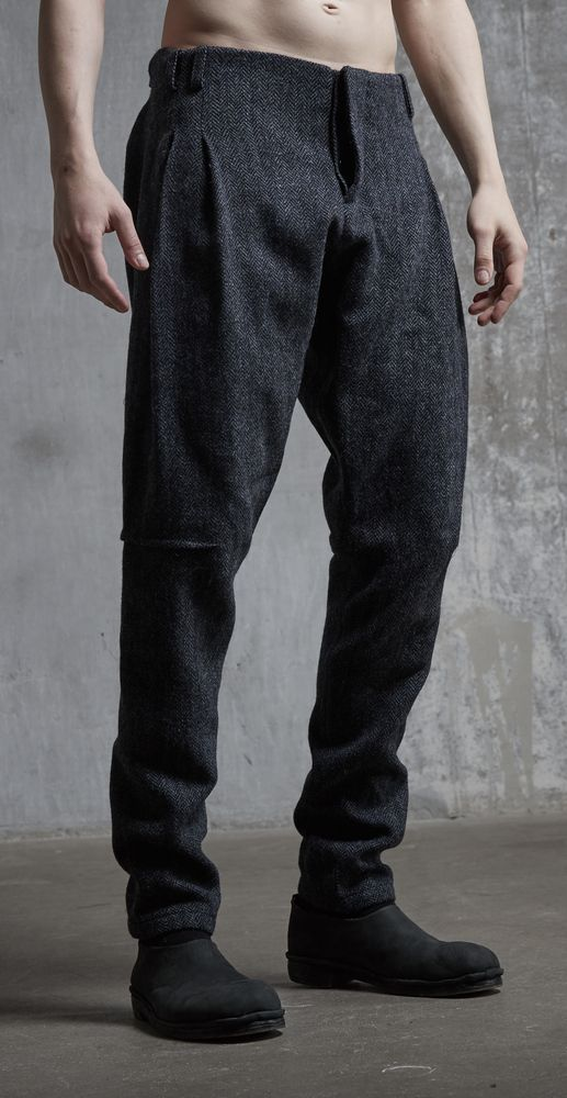 Tweed pants riding breeches / Tweed peg …