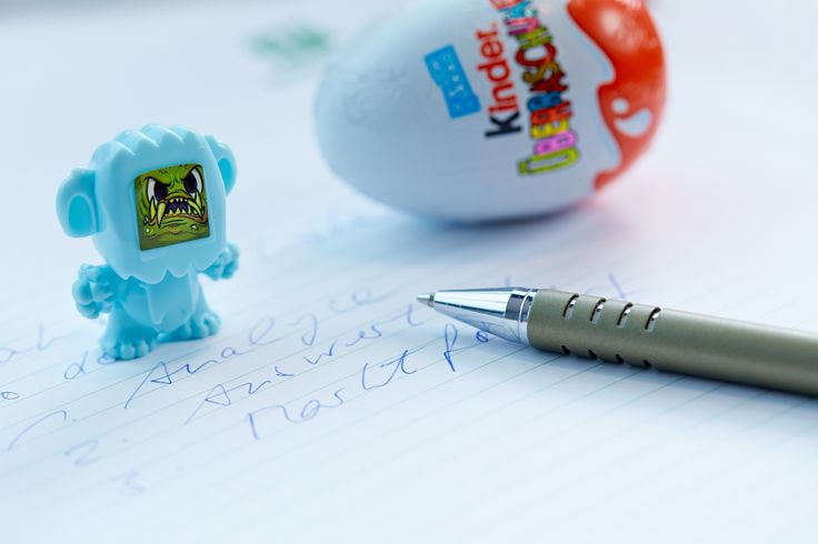Take a break! Grab one of our Kinder-Überraschungs eggs at our Energy Corner