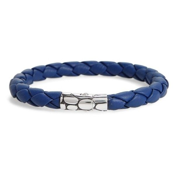 Men's John Hardy 'Kali' Leather Bracelet ($295) ❤ liked on Polyvore featuring men's fashion, men's jewelry, men's bracelets, john hardy men's bracelets, mens watches jewelry, mens leather bracelets, mens leather braided bracelets and mens bracelets