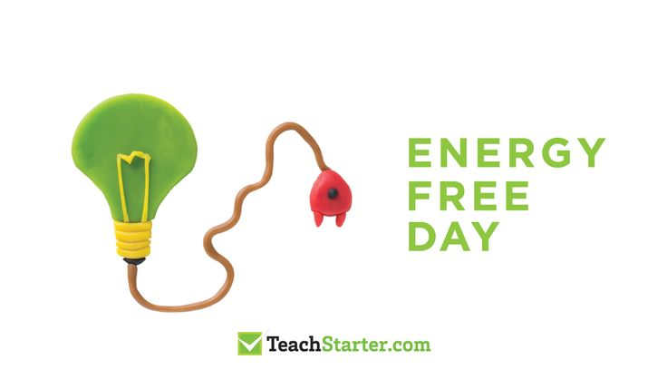 energy free day - classroom activities for teaching sustainability - playdough light bulb and cord