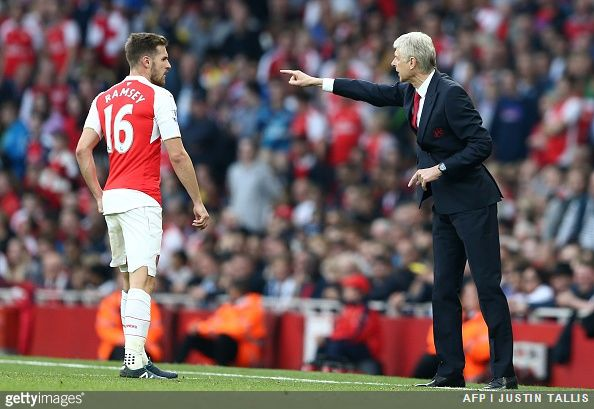 Arsenal manager Arsène Wenger believes Aaron Ramsey can be a goal-getting midfielder in the mould of Chelsea legend Frank Lampard