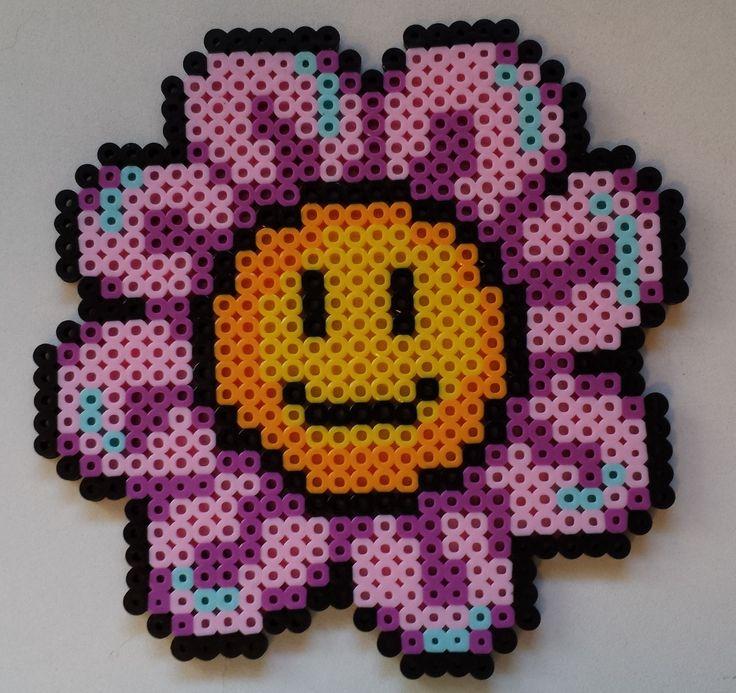Week 23, Day 155, Flower. 365 Day Perler Bead Challenge.