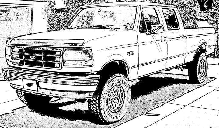 Coloring Page Big Ford Cute766