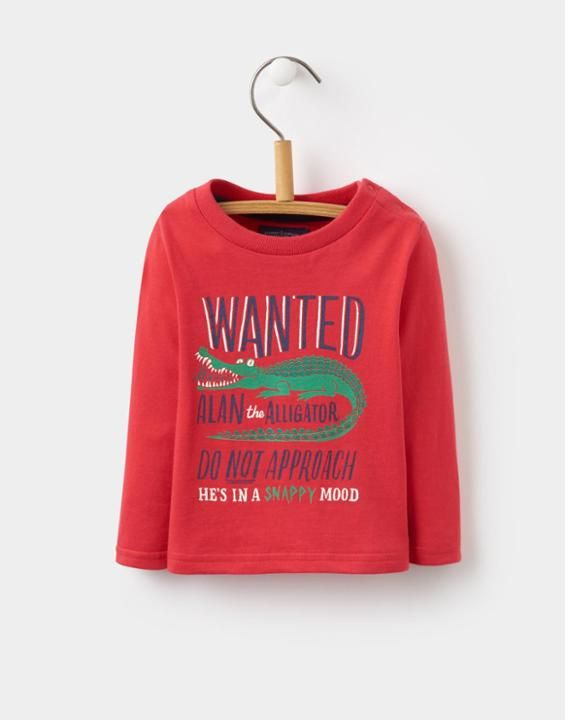Finlay Red Alligator Jersey Top   Joules UK