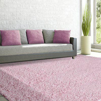 Rug Studio Shag-Ola Pink Area Rug Rug Size: 9' x 12'