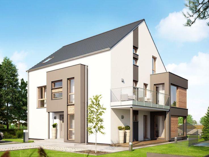 Hausbau modern satteldach  31 besten Doppelhäuser & Zweifamilienhäuser Bilder auf Pinterest ...