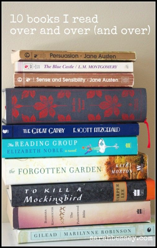 Comfort Books - 10 books that this blogger reads over and over. Also, check out the comments. Lots of good suggestions on there, too!