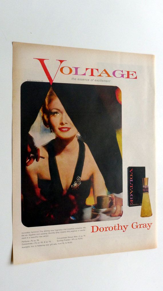 1959 LIFE Magazine Voltage Perfume Ad - vintage magazine ad framable